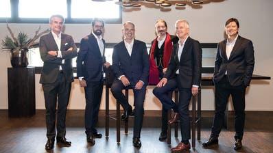 v.l.n.r.: Roger Studer, Arthur Vayloyan, Niklas Nikolajsen, Urs Bigger, Luzius Meisser und Giles Keating. (PD)