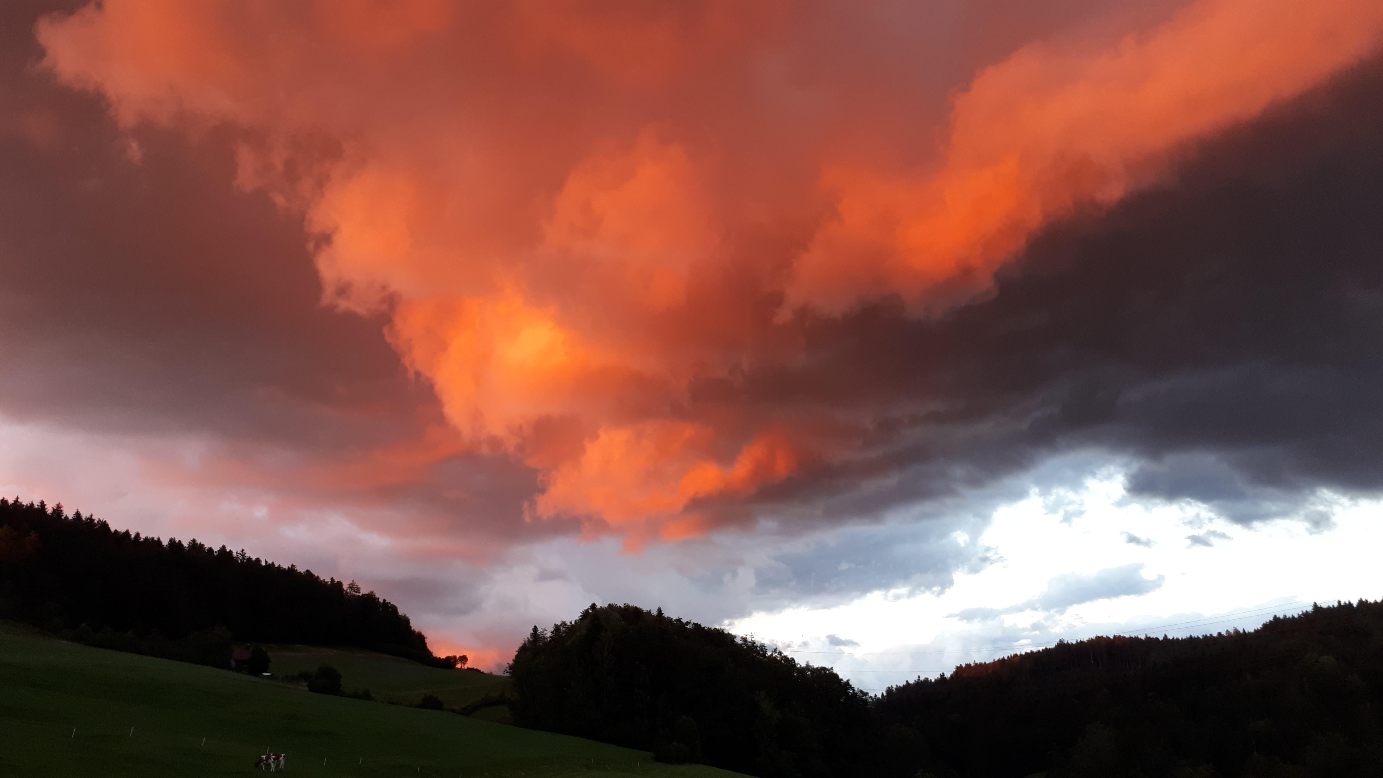 Abendstimmung über St.Gallen.