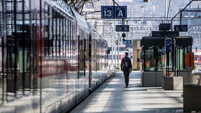 Während des Lockdowns hat der ÖV kaum Passagiere verzeichnet. (Bild: Nadia Schärli (16. März 2020))