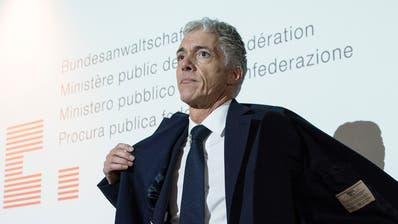 Das wars: Bundesanwalt Michael Lauber kündigt Rücktritt an. (Peter Schneider / KEYSTONE)