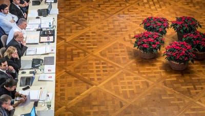 Der Frauenfelder Gemeinderat tagt zu Präcoronazeiten im Grossen Bürgersaal des Rathauses. (Bild: Andrea Stalder,11. Dezember 2019)