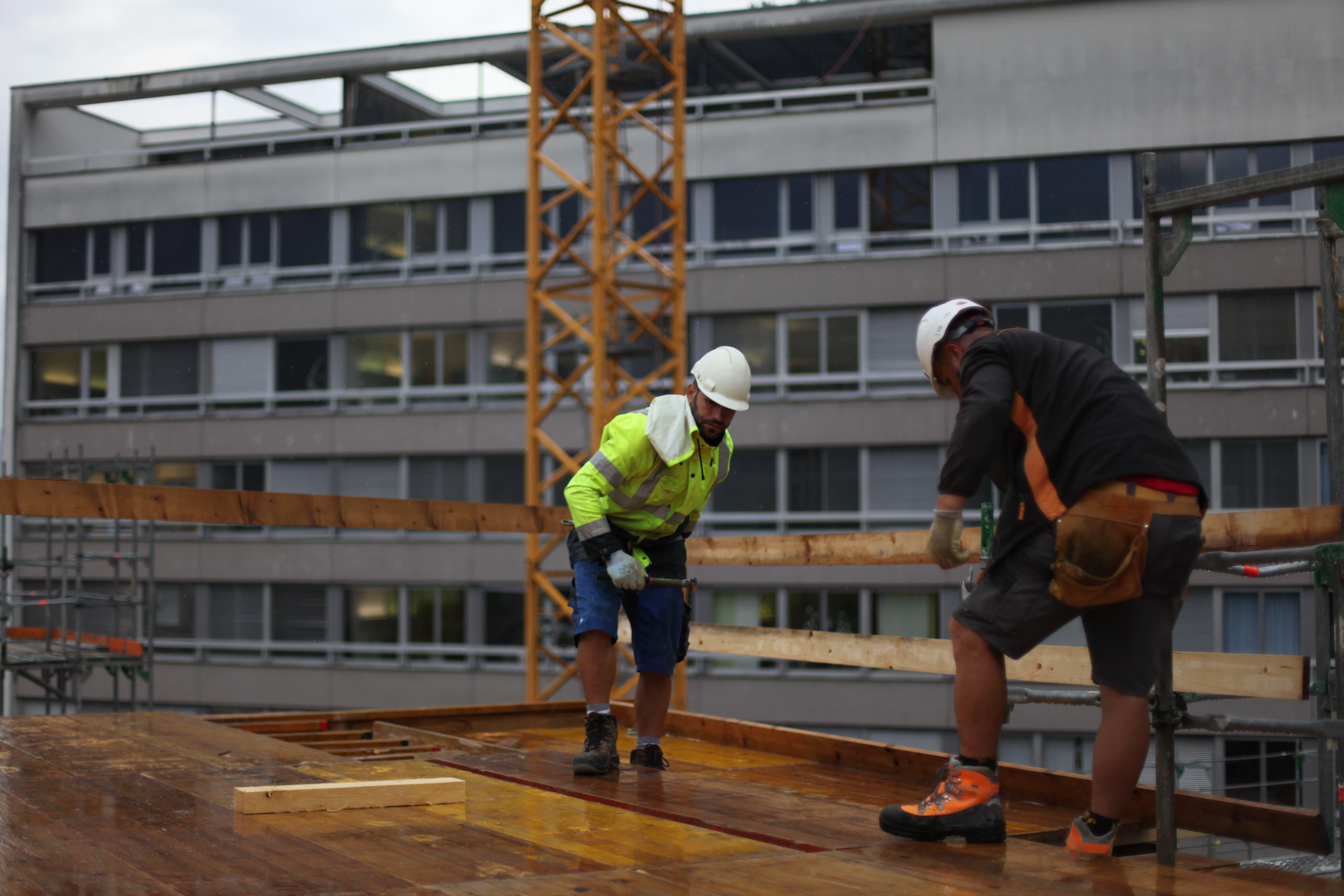In Spitzenzeiten werden bis zu 120 Arbeiter auf der Baustelle sein.