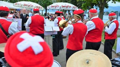 Die Stadtmusik wird die Bundesfeier musikalisch umrahmen. (Bild: Max Eichenberger (Arbon, 1.8.2015))