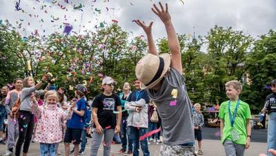 Dieses Jahr kann der Startevent des Ferienpasses nicht stattfinden. Hier ein Bild aus dem Jahr 2019. (Nadia Schärli (Luzern, 15. Juli 2019))