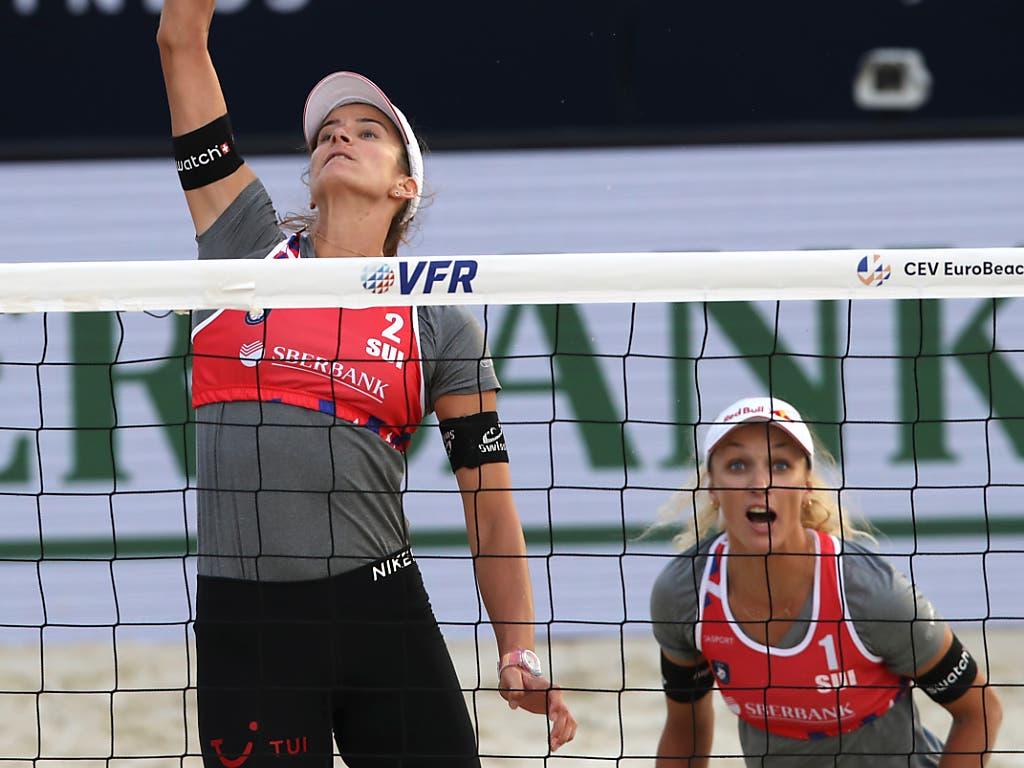 Auch Joana Heidrich (li.) und Anouk Vergé-Dépré sind zuversichtlich, dass ihre Olympiachancen in einem Jahr höher sind