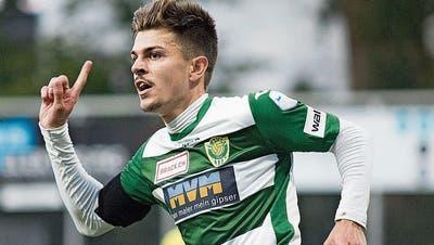 Wegen einer Fraktur am Schienbein wird Flügelspieler Omer Dzonlagic dem SC Kriens bis Ende Saison fehlen. (Bild: Pius Amrein (20. Juni 2020))