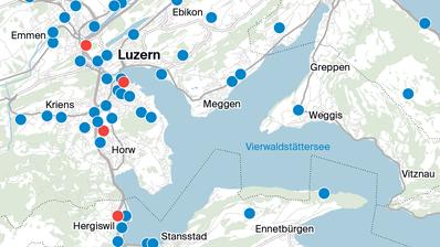 Hier stehen die 5G-Antennen in Luzern und Umgebung