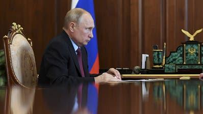 Innen schwach, aussen tough: Wladimir Putin. (Keystone)