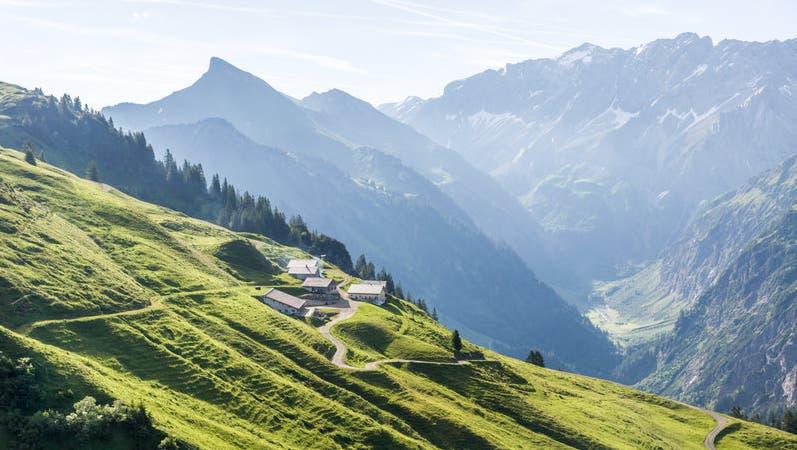 Alpen sind beliebte Wander- und Ausflugsziele, wo man den Wandertag mit einem stärkenden Bergfrühstück beginnt oder mit einer Jause abrundet (© Helmut Düringer / Vorarlberg Tourismus)