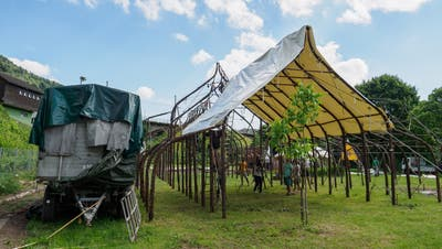 Das Weidepalais für «Rigolo» steht in Lichtensteig
