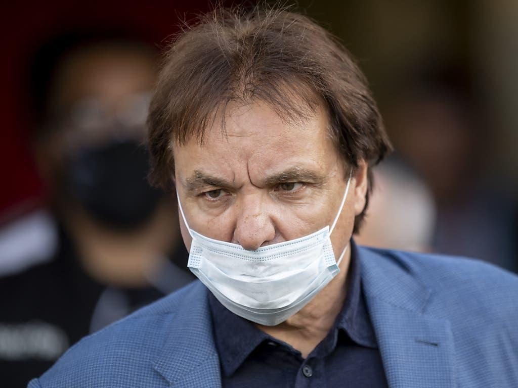 Auch Präsident Christian Constantin scheint sich an das Silenzio Stampa von Trainer Tramezzani zu halten