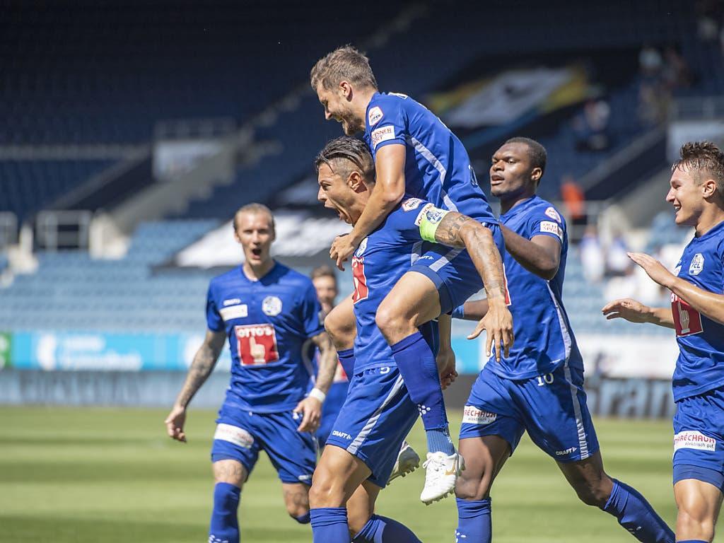 Jubel über einen klaren Heimsieg: Der FC Luzern liess Thun keine Chance