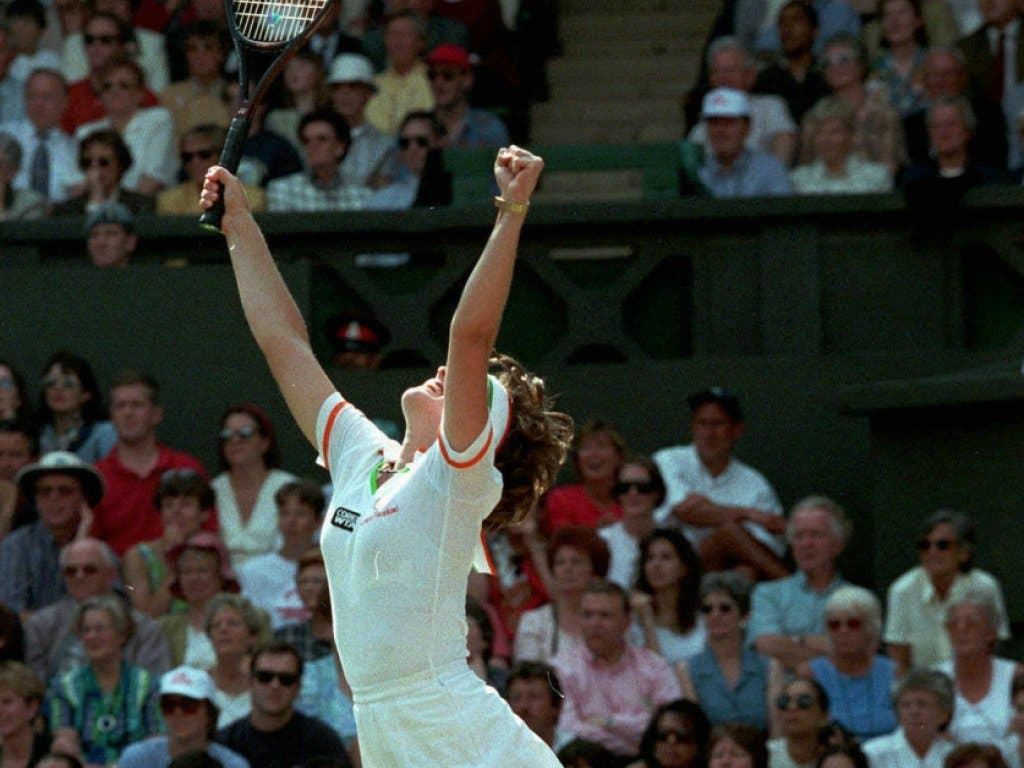 Jubelschrei: Mit dem Finalsieg gegen Jana Novotna bestätigte sich Hingis als klar beste Spielerin des Jahres 1997