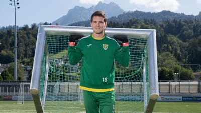 Möchte auch nächste Saison das SCK-Tor hüten: der 21-jährige Pascal Brügger. (Bild: Eveline Beerkircher (Kriens, 7. Juli 2020))