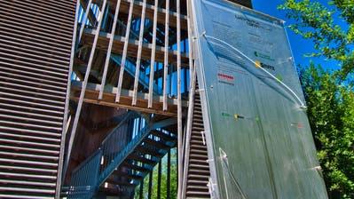Vandalismus beim Amriswiler Gewerbeturm