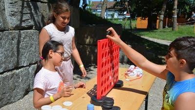 Der Spielplatz am Wellhauserweg wird für vier Tage zum Eldorado für Frauenfelder Kids