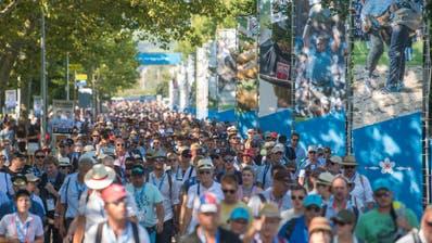 Über 400'000 Schwingfans besuchten vor einem Jahr das Esaf in Zug. (Bild: Boris Bürgisser (Zug, 25. August 2019))