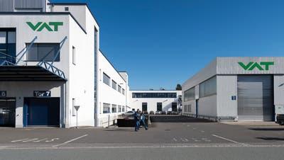 Blick auf den Hauptsitz der VAT Group AG (Gian Ehrenzeller / KEYSTONE)