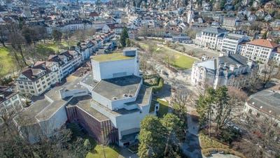 Wuchtig und markant, jetzt muss es saniert werden: Das Theater St.Gallen, entworfen von Architekt Claude Paillard, wurde 1968 eröffnet. (Bild: Benjamin Manser / Michel Canonica)
