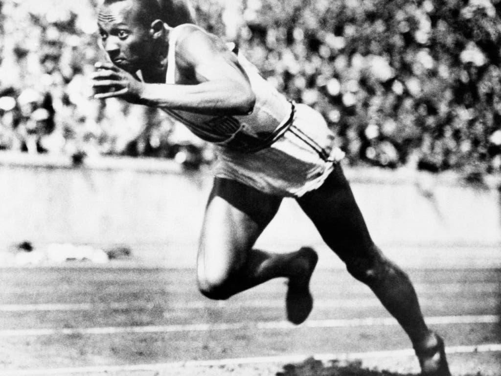 Jesse Owens, der schnellste Mann seiner Zeit.