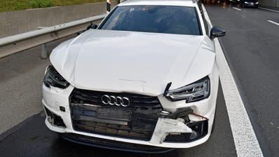 Dieses Auto war genauso wenig fahrbar... (Bild: Luzerner Polizei (10. August 2020))