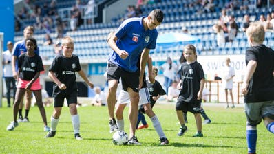 Ein Highlight der letztjährigen Saisoneröffnung war das Kids Training. (Bild: Manuela Jans-Koch; 14.07.2019)