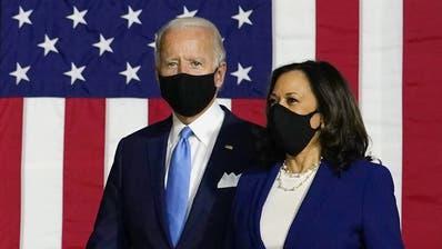 Erster Auftritt als «Team»: Joe Biden (links) und Kamala Harris. (Keystone)