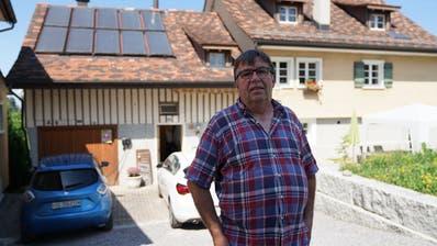 Für seine Sonnenkollektoren musste Richard Faust vor vielen Jahren kämpfen. (Johannes Wey (12. August 2020))