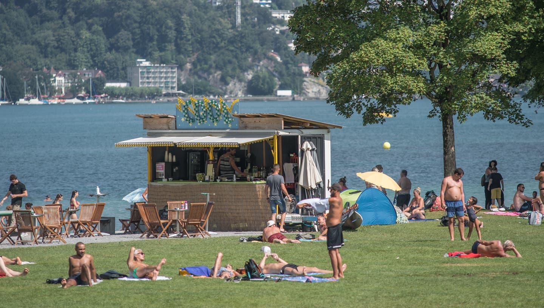 Die «Beach-Bar» von Sascha Welz in der Ufschötti ist Ende dieser Saison passé. (Bild: Pius Amrein (12. August 2020))