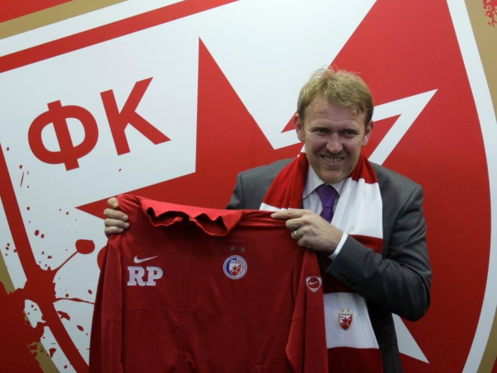 Eine typische jugoslawische Biografie: Bis 1991 spielte Robert Prosinecki für die jugoslawische Nationalmannschaft und Roter Stern Belgrad, dann feierte er mit Kroatien grosse Erfolge und 2010 (Bild) kehrte er als Trainer zurück zu Roter Stern