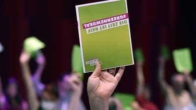 Die Grünen trafen sich erstmals seit der Coronakrise wieder zu einer Delegiertenversammlung. Diese fand in Brugg (AG) statt. (Keystone)
