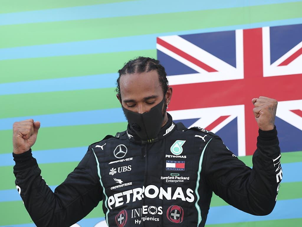 Mit seinem 88. Sieg in der Formel 1 vergrösserte Lewis Hamilton seinen Vorsprung an der Spitze des WM-Klassements auf Verstappen um 7 auf 37 Punkte. A