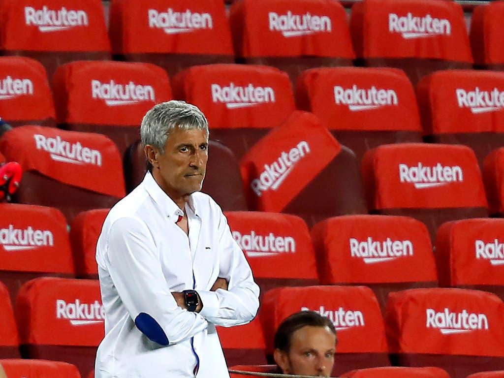 Die Tage von Quique Setien als Trainer des FC Barcelona sind wohl gezählt