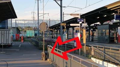 Der Koffer steht bei der Hafenlounge in Romanshorn. (PD)