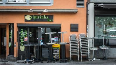Eine geschlossene Bar während des Lockdowns in St. Gallen. (Michel Canonica)