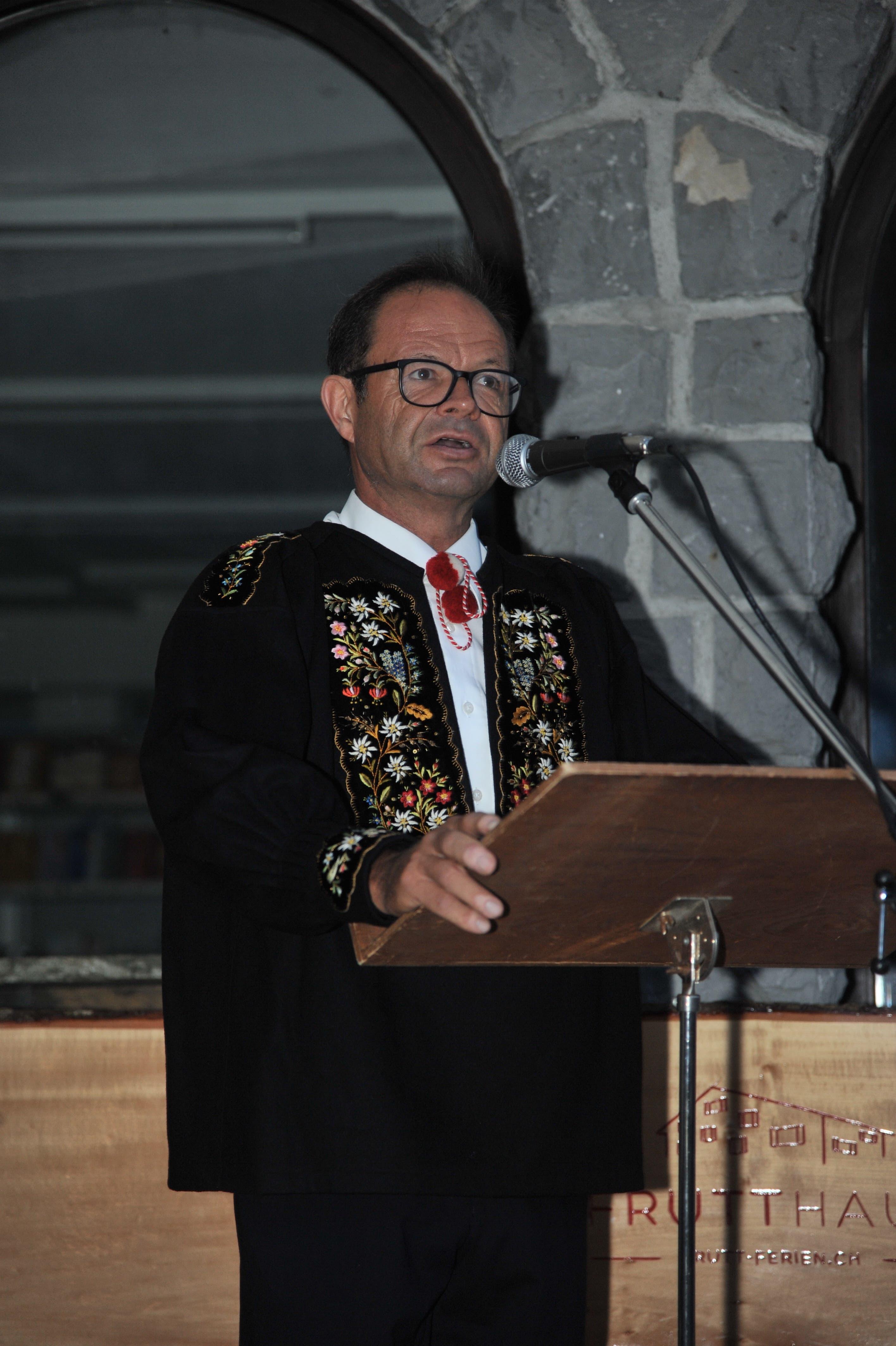 Regierungsrat Josef Hess hielt die Festrede an der 1.-August-Feier auf der Frutt.