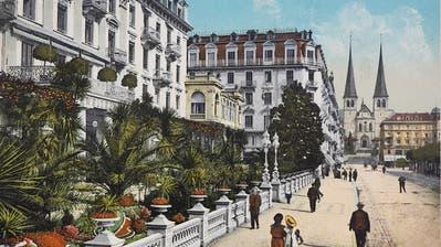 Schweizerhofquai nach 1870. (Bild: Elge Kenneweg(Luzern,22. April 2014))