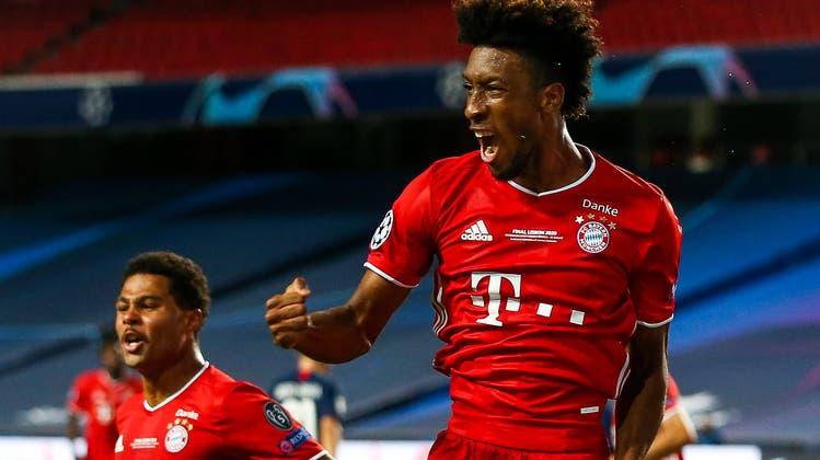 Kingsley Comans Treffer ist der einzige des Spiels. Die Bayern gewinnen die Champions League. (Bild: Jose Sena Goulao / EPA)
