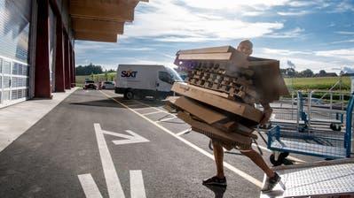 So präsentiert sich das neue Recyclingcenter Ibach am Morgen seiner Eröffnung. (Bilder: Nadia Schärli (Montag, 24.August 2020))