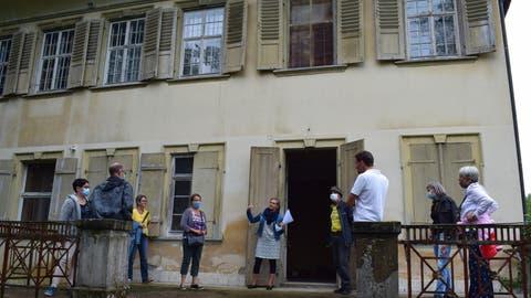 IG-Mitglieder und Sympathisanten konnten am letzten Samstag das Schloss besichtigen. 75 Personen nutzen die Gelegenheit. (Bild: PD (Egnach, 22. August 2020))