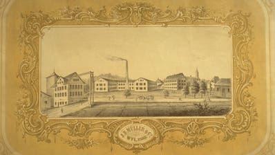 Die Buntweberei von Jakob Josef Müller in Wil war seinerzeit die grösste im Land. (Bild: PD)