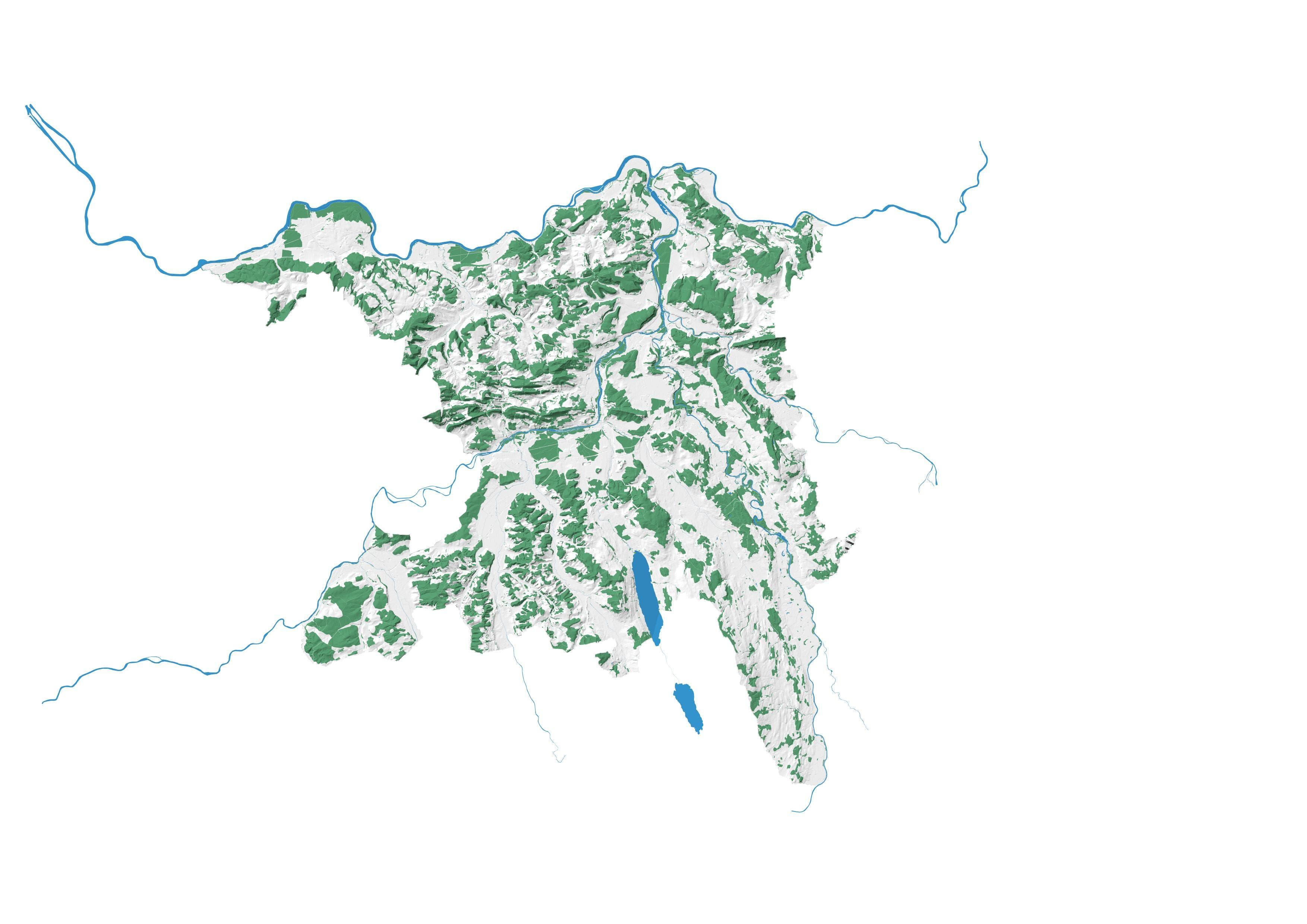 Die bestehende Waldfläche im Kanton Aargau umfasst 49'000 Hektar Wald, was 36% der Kantonsfläche entspricht. Momentan stehen 17,6 Millionen Bäume.