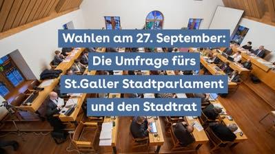 St.Gallen wählt: Finden Sie Ihre passenden Kandidierenden für das Stadtparlament und den Stadtrat mit unserer Umfrage