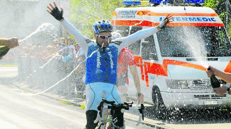 Marcel Renggli vor 10 Jahren kurz vor seiner Weltrekordfahrt. (Bild: Bild Kurt Grüter (Schötz, 5.August 2010))