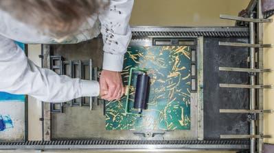 Wie entsteht Kunst? In Ateliers, die normalerweise nicht öffentlich zugänglich sind– ausser im Rahmen von«Fünfstern». (Bild: Pius Amrein)