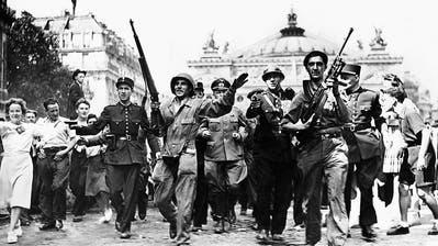 Am 25. August 1944 befreiten Kämpfer der Résistance gemeinsam mit den Alliierten die französische Hauptstadt Paris. (Bild: Keystone)
