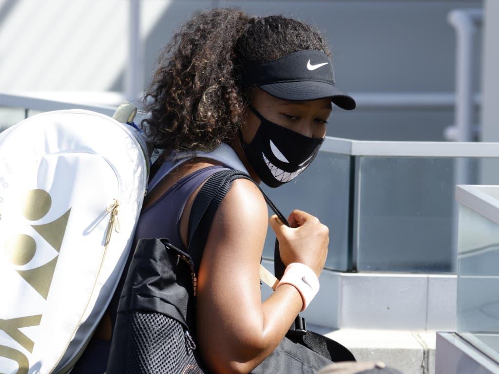Naomi Osaka trat in New York nicht zu ihrem Halbfinal gegen Elise Mertens an