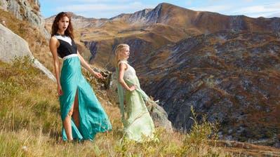 Ein erstes Fotoshooting vor zwei Jahren am Gotthard. (Green Fashion Week / Urner Zeitung)