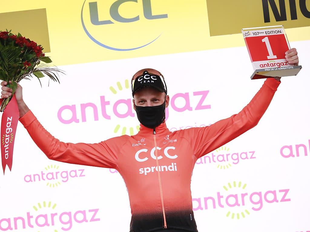Michael Schär sah sich beim Tour-Auftakt als kämpferischster Fahrer des Tages ausgezeichnet
