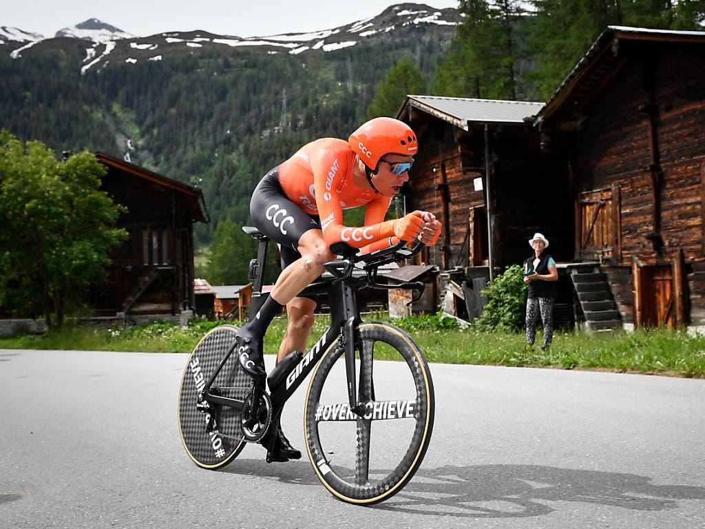 Michael Schär vom polnischen Team CCC im Zeitfahren an der letztjährigen Tour de Suisse